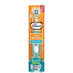 ARM & HAMMER Spinbrush Pro Series Ultra White Battery Toothbrush, Medium (colors may vary)