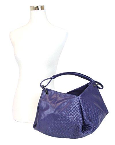 Bottega Veneta Blue Woven Hobo Bag Leather Handbag 261982