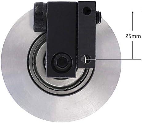 Machine /à Bande Meuleuse /à Bande /φ68 50 mm Portant 12 mm de diam/ètre Roue dentra/înement pour Machine de pon/çage Roue de Contact en Aluminium