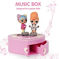 HAHAone Music Box Compatible for Dolls Toy(Dolls Not Included), Storage Container for Doll Accessory