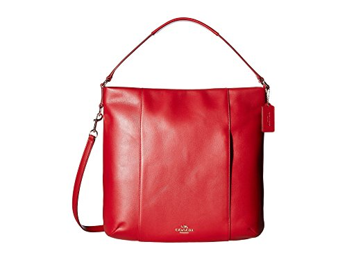 COACH Women's Leather Isabelle Shoulder Bag Classic Red One Size - Coach Style Handbag