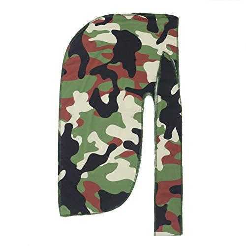 PLOVZ Mens Womens Printing Durags Cap Headwraps Du-Rags (Camo)