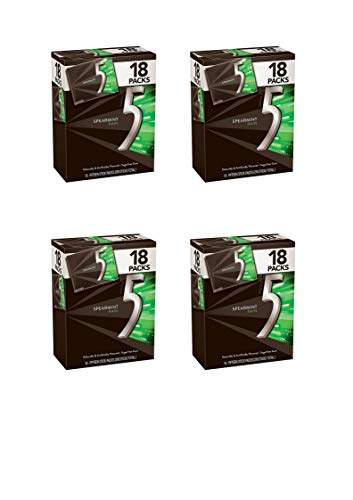 5 Gum Spearmint Rain Sugarfree Gum, Bulk 18 packs - Buy