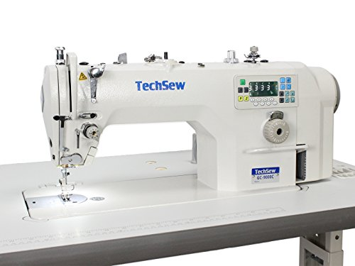 Techsew 9000C Automatic High Speed Lockstitch Industrial Sewing Machine with Assembled Table & Direct Drive ()