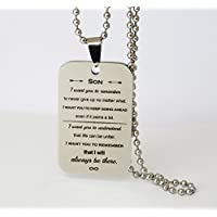 Dog Tag Necklace Personalized Gift For Son Never Give Up
