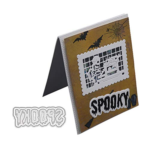 Ocamo New Spooky Metal Cutting Dies Embossing Die Cuts Scrapbooking Dies Metal Cut DIY Halloween Decoration