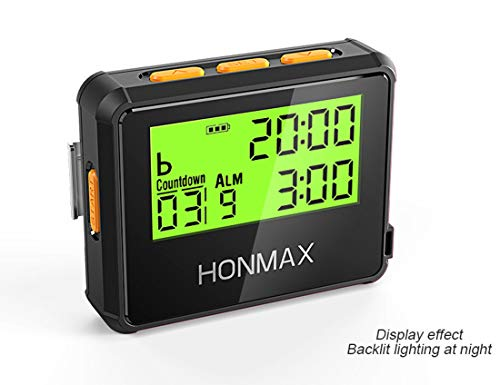 HONMAX 8200 Waterproof Interval Training Timer Stopwatch | Timers for Kitchen, HIIT, Running, Sports, Swimming and Outdoor Exercise | Countdown up to 100 Hours | LED Digital Clock for - Time Timer Countdown Stopwatch