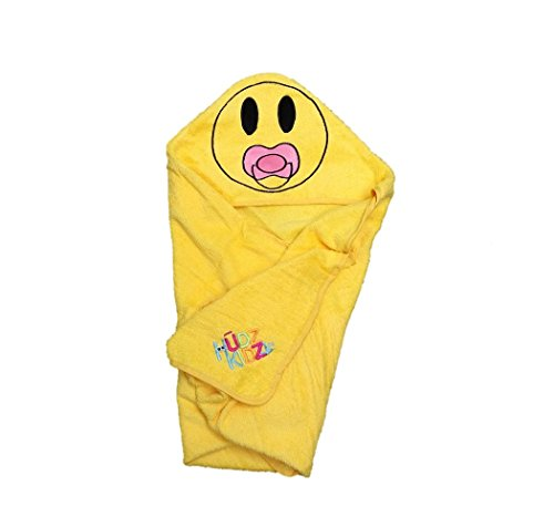 (Softest Quick Dry XL Hooded Baby Towel for Infant, Toddler - 5T | 100% Cotton Emoji Towel Gently Snuggles Kids Dry. Get the Baby Shower Gift Moms Love by Hudz)