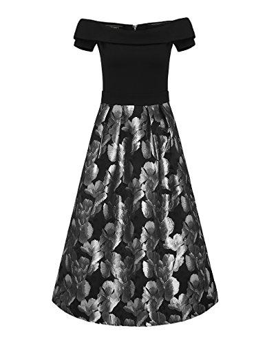Brautkleid Spitze Rã¼Ckenfrei | Apart Fashion Damen Kleid Mehrfarbig Schwarzsilber Jvk8g9dxd