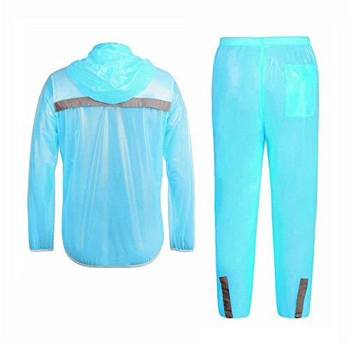 Pantaloni Blau Due Raincoat Pioggia A Solido Impermeabile In Antivento Di Casuale Giovane Colore Pezzi Allentata Antipioggia Uomo 35ulTF1cKJ