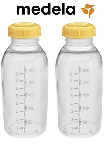 llection Storage Feeding Bottle Set with Lids (2 Bottles and 2 Lids) W/lid 8oz /250ml (Medela Collection Container)