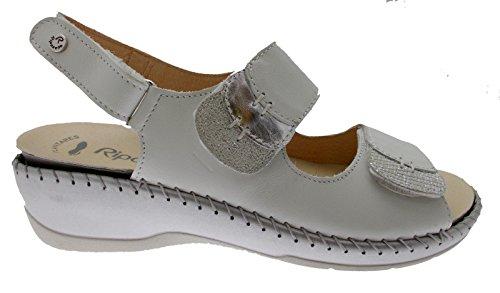 Riposella 6436 White Sandal Adjustable Removable Orthopedic Insole 40 s1u2WP6O2G