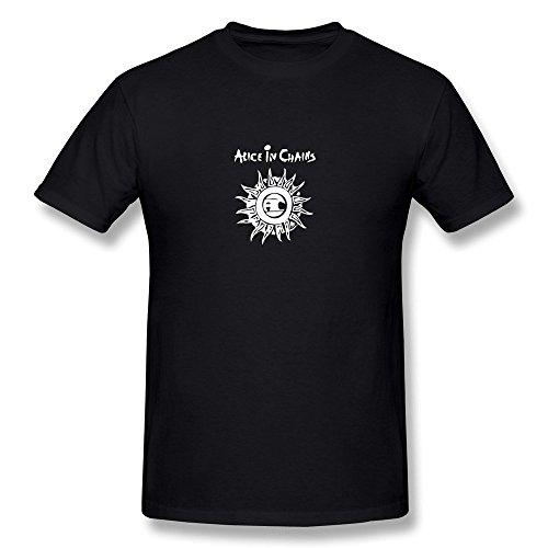 Hsuail Men's Alice In Chains Band Logo T-Shirt Black US Size (Alice In Chains Halloween Shirt)