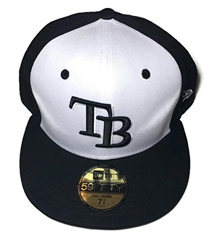 397ab268392 MLB New Era Tampa Bay Rays High Heat 2 Tone 59FIFTY Fitted Black White Cap