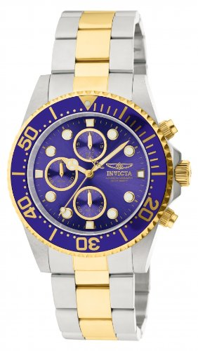 invicta mens gold watch blue dial - 1