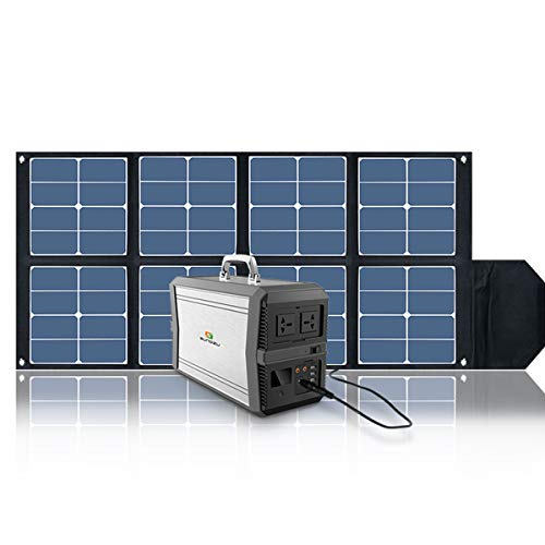 SUNGZU Solar Panel, 100W Waterproof Foldable Charger Panel with1 DC Outputs 32V/2.7A for Cellphone, Laptops and Generator