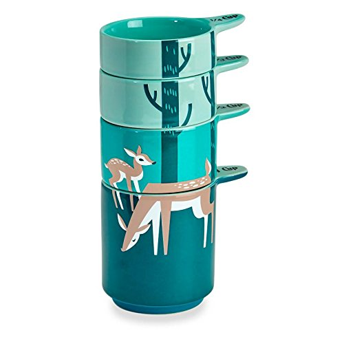 Fawn Deer Set of 4 Ceramic Stackable Measuring Cups (Pinterest Christmas Gift Baskets)