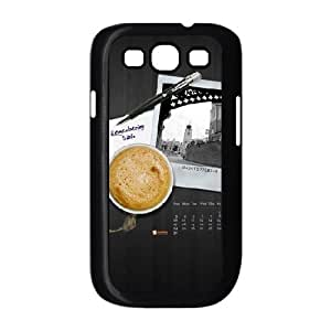 Coffee Samsung Galaxy S3 Case for Teen Girls Protective, Samsung Galaxy S3 Case I9300 Design Fashion [Black]
