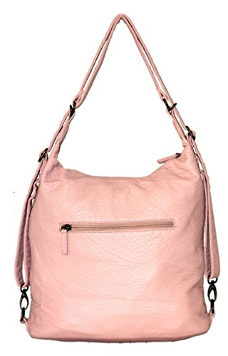 amp; Vegan Ampere Pink Crossbody Creations Leather Backpack Purse Petal by Convertible Bag qwtU4
