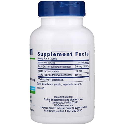 Life Extension - No Flush Niacin - 800 Mg - 100 Caps (2)