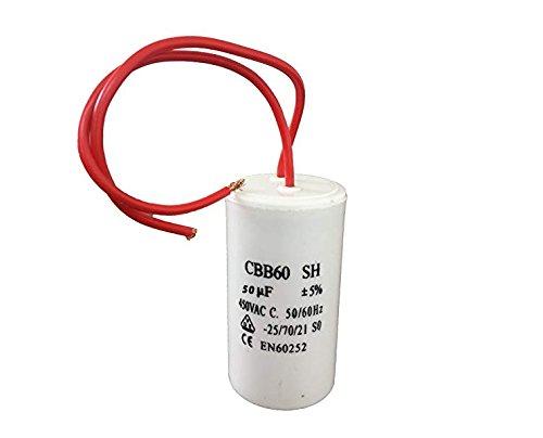 3-100/µF Condensateur de Moteur 3uF AC 450V 50//60Hz 2 fils