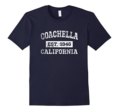 Men's Coachella California T Shirt Est. 1946 Distressed XL - Men Coachella