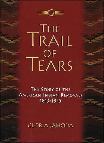 The Trail of Tears: Gloria Jahoda: 9780517146774: Amazon com