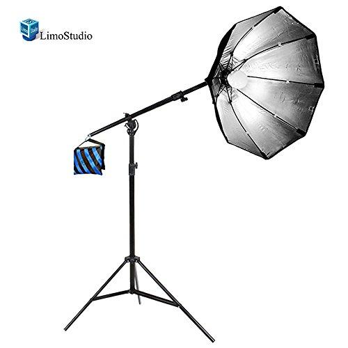 LimoStudio LED Photography Studio Light Octagon Softbox Video Studio Portrait Boom Stand Lighting Kit, AGG1780