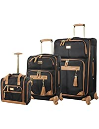 3 Piece Softside Spinner Suitcase Set Collection