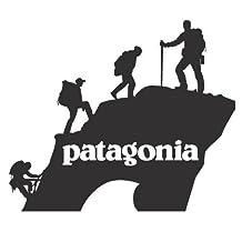 Patagonia Climbers Mountain Window Decal Stickers 8x7