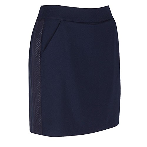 Greg Norman Women's 2017 Embossed Python Knit Golf Skort New, Navy, - Women Norman