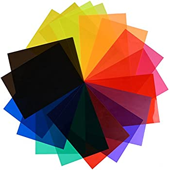 Amazon.com : Neewer 12 x 12-Inches Pack of 8 Transparent Color ...