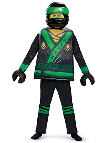 Disguise Lloyd Lego Ninjago Movie Deluxe Costume, Green, Medium (7-8)]()
