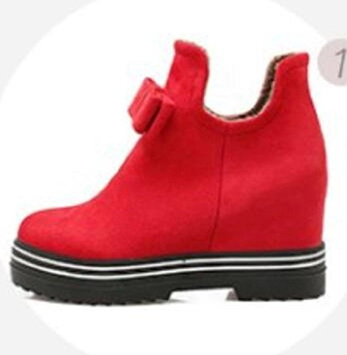 Mujeres moda cálida dentro de cuñas Martin botas botas de nieve red