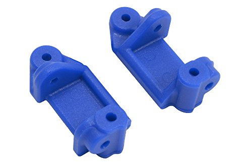 RPM 80715 Front Caster Blocks for Slash 2WD, Nitro Slash, E-Rustler and E-Stampede 2WD, Blue (Traxxas Aluminum Caster Blocks)