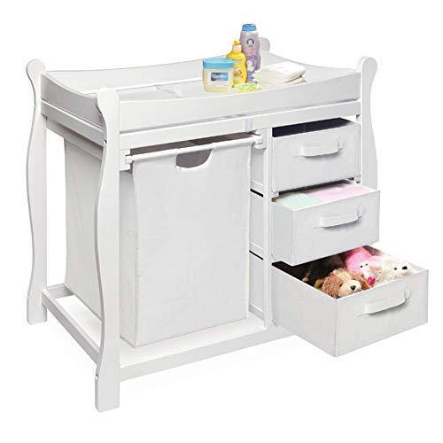Mesa para cambiar pañales La tabla cambiante del bebé embroma la unidad del masaje con el cajón, muebles del cuarto de...