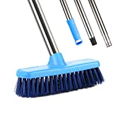 Floor Scrub Brush, YCUTE 47' Stainless Steel Long Handle with 7.4' Surface Grout Brush for Cleaning Deck, Garage, Kitchen, Wall, Bathroom, Tub and Tile