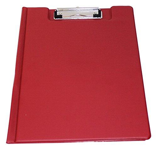 Klemmbrettmappe Schreibmappe A4 PVC-Folie rot