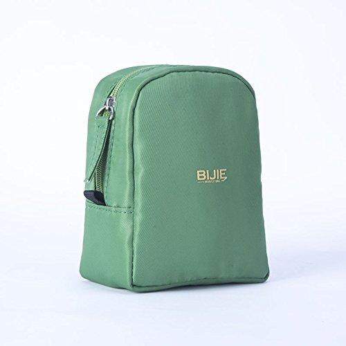 LULANKosmetiktasche kleine tragbare minimalistischen Mädchen mini Lippenstift Tasche - Ergänzung - Zulassung Paket, 10*5*12 cm, grün