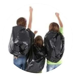 alfombrilla de ratón Medio ambiente bolsas de basura y jóvenes - ronda - 20cm