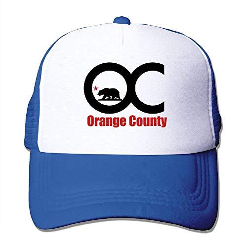 Jearvy Trucker Mesh Hat Baseball Cap Orange County Adjustable Snapback Hats RoyalBlue ()