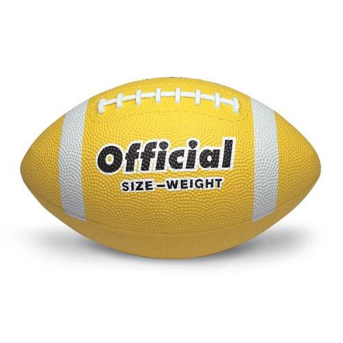 - MAC-T PE02703E Official Size 5 Durable Rubber Football, Yellow, Grades 11+