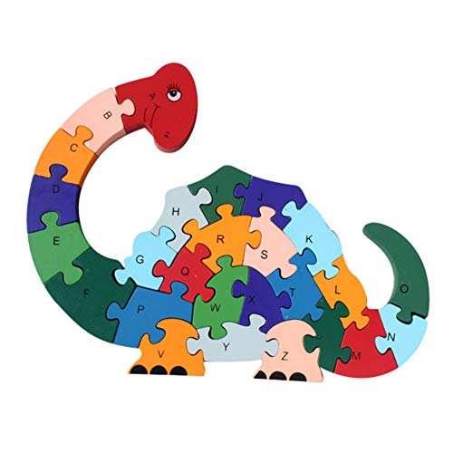 - Kidoll English Alphabet Jigsaw Puzzle Dinosaurs Building Blocks Wooden Toy 3D Number Blocks Educational Toys