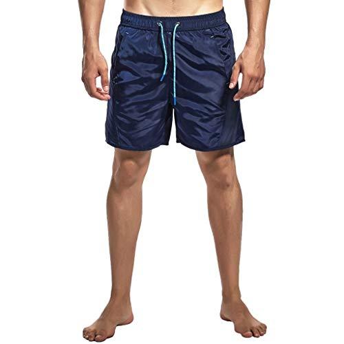 Seaintheson Men's Sports Shorts,Summer Quick Dry Beach Pants Casual Jogger Shorts Swim Trunks Surfing Running Swimming Shorts Dark Blue