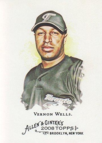 Toronto Blue Jays Vernon Wells - 2008 Topps Allen & Ginter Baseball #81 Vernon Wells Toronto Blue Jays