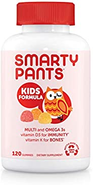 SmartyPants Kids Formula Daily Gummy Multivitamin: Vitamin C, D3, and Zinc for Immunity, Gluten Free, Omega 3
