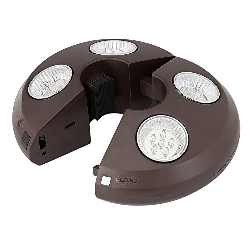 4-Light Rechargeable LED Umbrella Light (Store Las Outdoor Furniture Vegas)