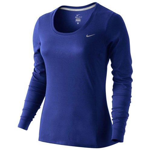 Maniche Maglia Da Donna Profondo fit Contour Blu Lunghe Xs Nike fit A Dri Profondo Dri Xwqyg4FT