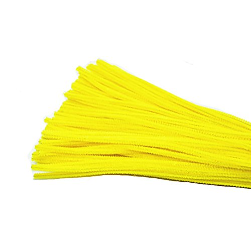 Freedi 95Pcs Pipe Cleaners Chenille Stem Creativity for Classroom Craft DIY Art Supplies 6mm (Yellow) (Thick Chenille Stem)