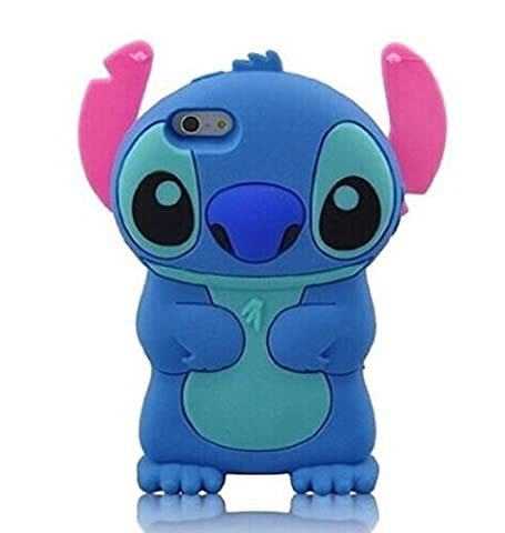 iPhone 6s Case, iPhone 6 Case, Cute 3D Cartoon Lovely Lilo Stitch Movable Ear Flip Soft Gel Rubber Silicone Protection Skin Case Cover for iPhone 6 / 6s 4.7